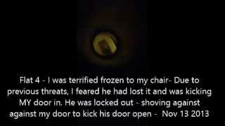 V9 - Noisehell - Flat 4 kicks the door (locked out p3) - Nov 13 2013