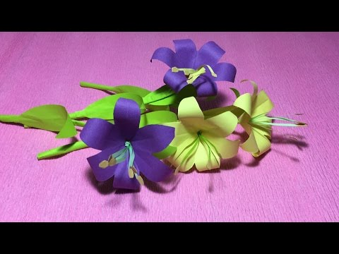 how to make an easy origami flower lily for kids/folded lily flower paper/origami instructions