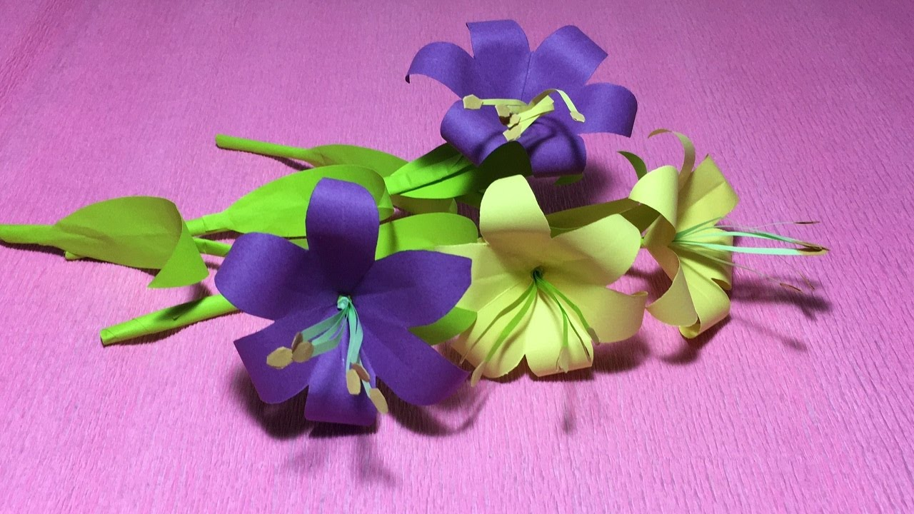 How To Make An Easy Origami Flower Lily For Kidsfolded Lily Flower