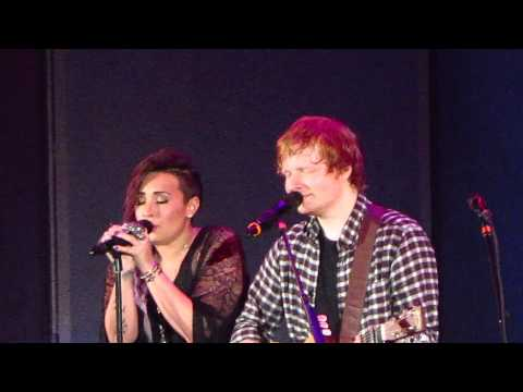 Ed Sheeran and Demi Lovato -