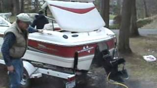 Starting up the boat in the Spring