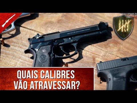 Pistola e revólver X Parede: Um teste prático! (.38, .380, .40 e 9mm)