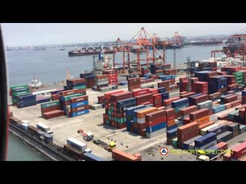 PCG Aerial surveillance during port inspection at Manila North Harbour