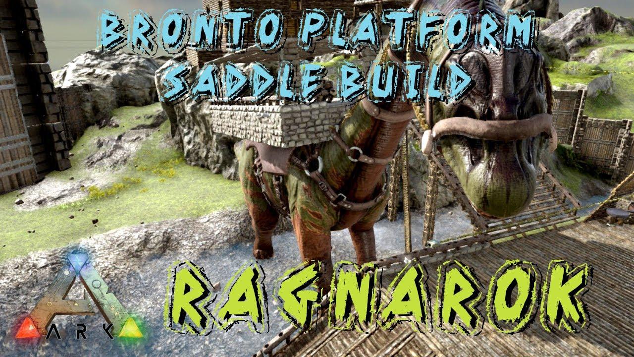 ark survival evolved bronto platform saddle build ragnarok