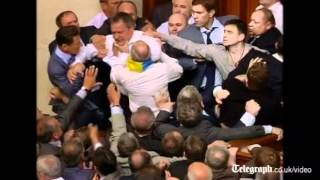 Parliament punch-up: Huge fight erupts among MPs in Ukraine legislature