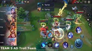 Troll Team - Khi Gặp Team 5 AD Phải Làm Ntn Cười Bễ Bụng Bầu |NHNGAME