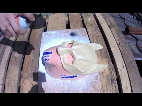 How to make a Batman mask with your own hands at home from liquid plastic.