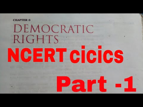 Democratic rights NCERT civics class 9 chapter -6...part 1 by The unbelievable truth