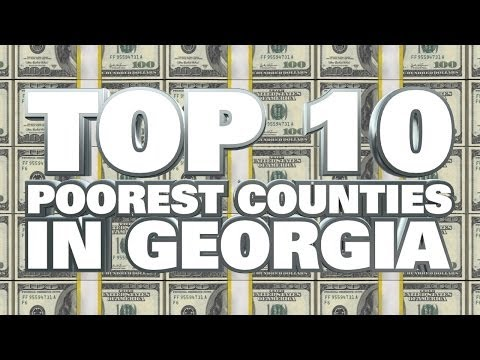 10 Poorest Counties in Georgia 2014