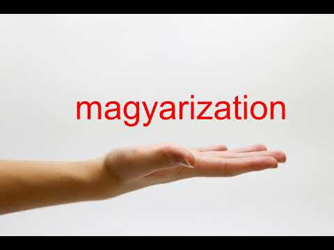 How to Pronounce magyarization - American English