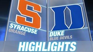 Syracuse vs Duke | 2014-15 ACC Men