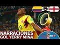 Colombia 11 Inglaterra  Las narraciones del gol de Yerry Mina delirio en radios y TV  Diario AS