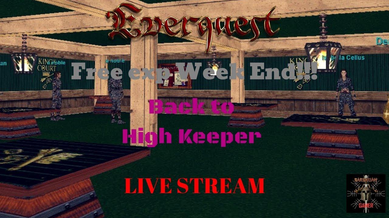 EverQuest Project 1999 Shadow Knight Kedge Keep Fear The Merfolk (LIVE  STREAM)