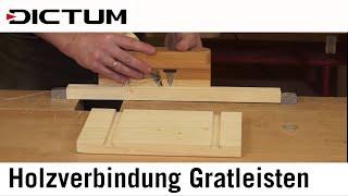 Holzverbindung Gratleisten - Beispiel: Sushi-Brettchen (Sushi Geta)