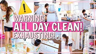 ⚠️ULTIMATE ALL DAY CLEAN WITH ME! SPEED CLEAN MY WHOLE HOUSE!🏡| Alexandra Beuter