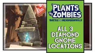 Plants VS Zombies BFN All Diamond Gnome Locations Weirding Woods