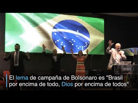 Evangélicos brasileños rezan y votan por Bolsonaro