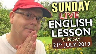 Learn English Live from England - 21st July 2019 - Picture idioms & phrases - Chat with Misterduncan