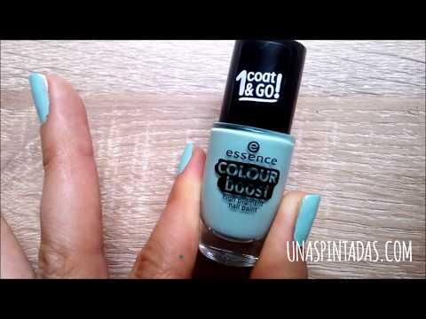 """Review esmalte de uñas de la marca Essence """"Colour boost"""" color menta"""