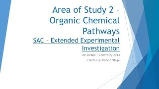 CLTC Chemistry 3/4 - EEI SAC on Aspirin Synthesis overview