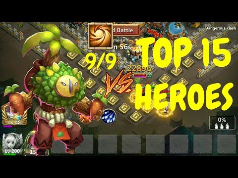Plant Warrior VS Top 15 Heroes L Castle Clash