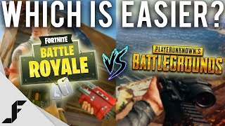 Which game is easier, Fortnite or PUBG?
