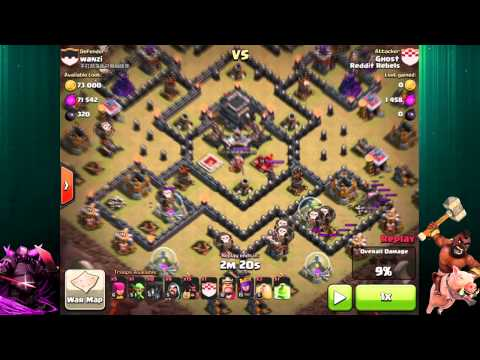 Clash Of Clans | HoLo Attack Strategy | Hogs and Balloons 3 Star Attack Strategy - TH 9
