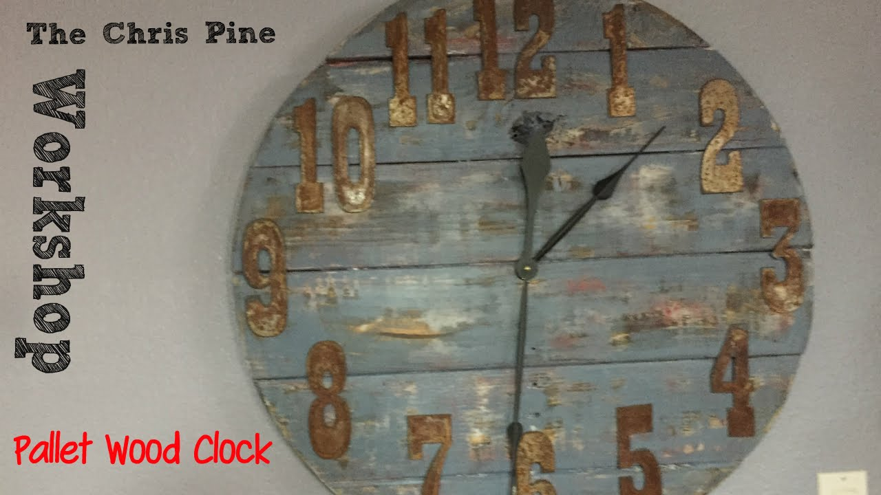 Diy Clock How To Make A Pallet Wood Clock. - Youtube