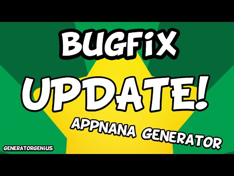 APPNANA GENERATOR: BUGFIX UPDATE! (Fixes invalid invitation code)