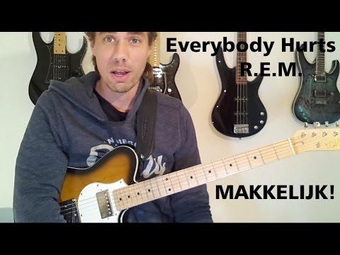 Everybody hurts – R.E.M. Makkelijk voor beginners! Gitaarles
