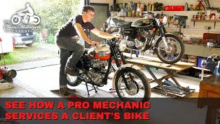End Of Season Routine Service On A Classic Motorcycle - The Classic Motorcycle Channel