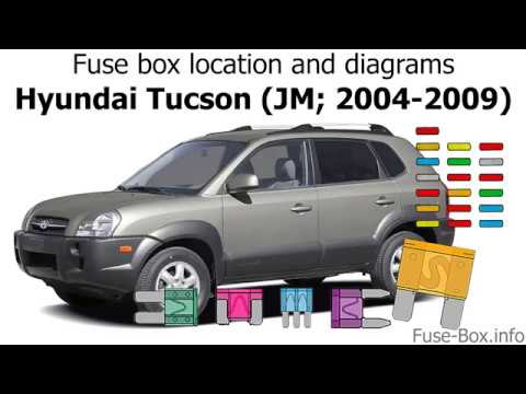 [TBQL_4184]  Fuse box location and diagrams: Hyundai Tucson (JM; 2004-2009) - YouTube | 2006 Hyundai Tucson Fuse Box Diagram |  | YouTube