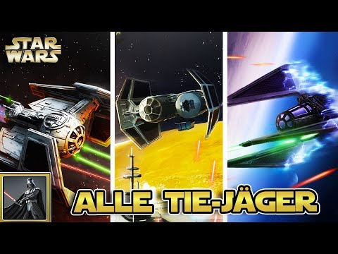 Star Wars - Alle TIE-Fighter Modelle des Imperiums (TIE-Jäger, Abfangjäger, Defender, etc) [Legends]