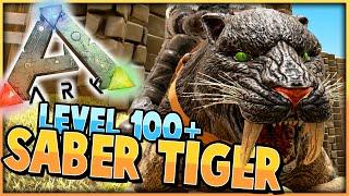 ARK: Survival Evolved | Taming Level 100+ SABER TOOTH TIGER! ▷︎THUM...