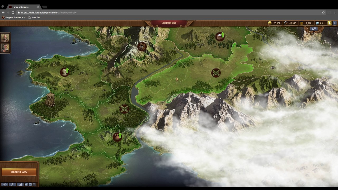 Forge Of Empires To Check Good Deposit In Continent Map Youtube