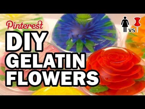 🌼 DIY Gelatin Flowers, Corinne VS Cooking