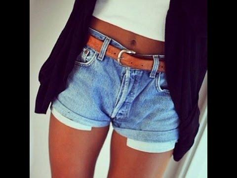 короткие джинсовые шорты фото женские