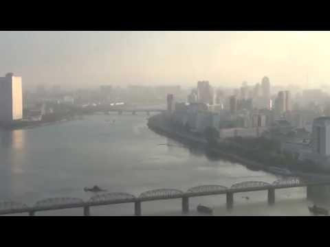 Uitzicht over Pyongyang vanaf de juche tower 2