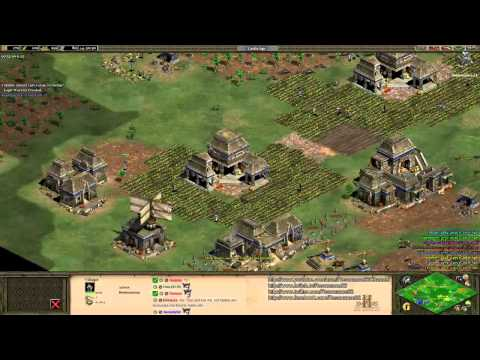 Aoe2 HD: 4v4 Black Forest (Aztecs, Eagle Warrior Rush) (Part 1/2)