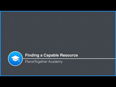 Finding a Capable Resource