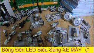 Bóng đèn pha LED chính hãng bao xài 1 năm cho các anh em | Thập cẩm bóng đèn LED Hậu xe máy