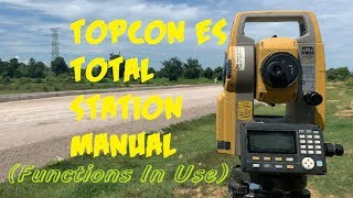 Topcon ES total station manual…