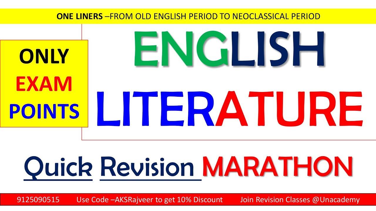 Rapid Revision   UGC NET ENGLISH   AKSRajveer  Literature Lovers