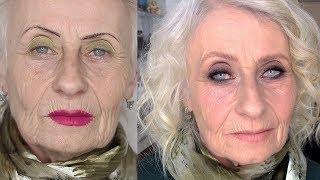 Макияж 60+. Возрастной вечерний макияж. Смоки для возрастной клиентки.