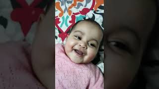 Cute baby laughing...