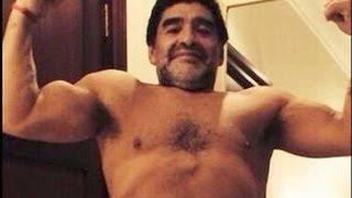 Maradona luce nuevo look y ahora podría dirigir en Inglaterra