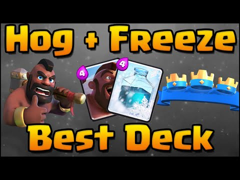 Clash Royale - Best Hog Rider + Freeze Combo Deck and Strategy for Arena 5, 6, 7, 8