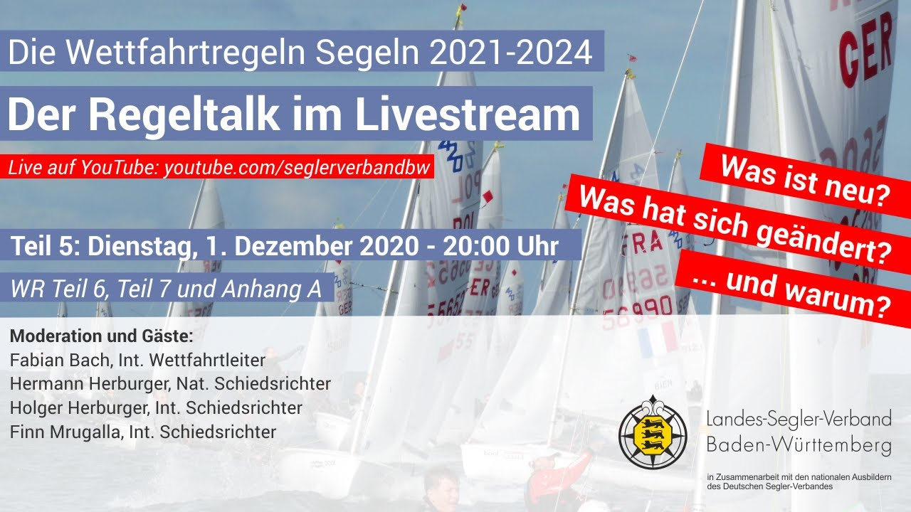 Teil 5 - Der Regeltalk im Livestream: Die Wettfahrtregeln Segeln 2021-2024