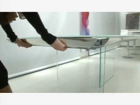 Tavolo allungabile in vetro Plano by OZZIO DESIGN - extendable ...