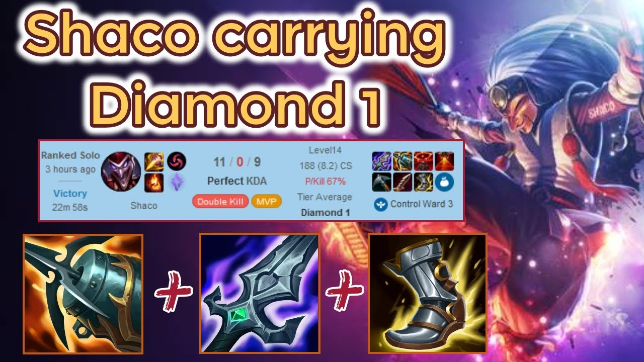 Diamond 1 Shaco Clean Carry - S11 Ranked [League of Legends] Full Gameplay - Infernal Shaco